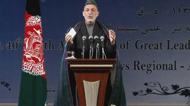 Der afghanische Präsident Hamid Karsai hofft auf Stabilität