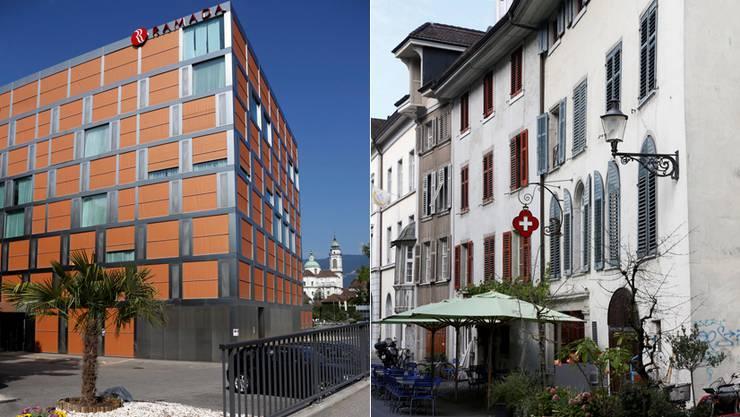 Haben unterschiedliche Erfahrungen mit Bewertungsplattformen gemacht: Das Hotel Ramada (l.) und das «Kreuz».
