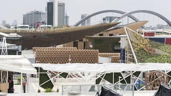 Blick über die verschiedenen Pavillons an der Expo Milano. Archivbild)