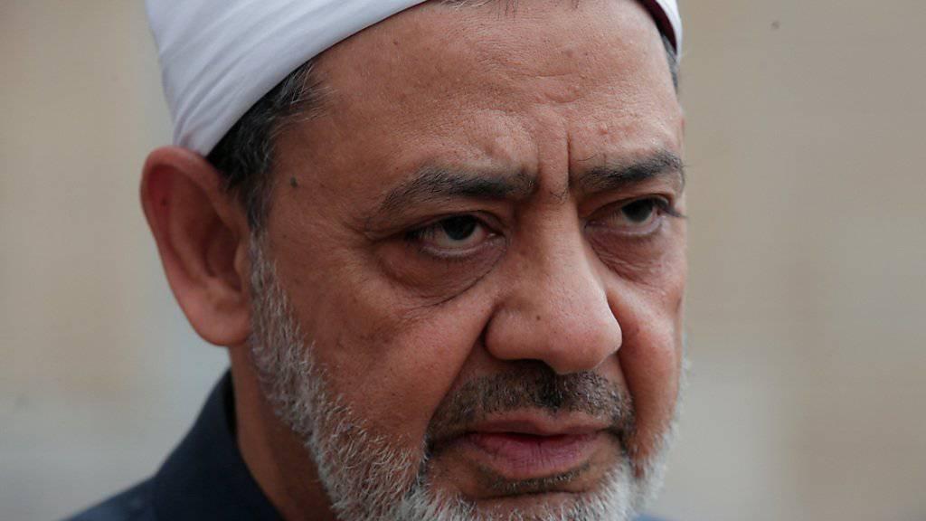 """""""Abscheulicher Mord"""": Der sunnitische Gelehrte Scheich Ahmed al-Tajib verurteilt die Tötung eines koptischen Priesters in Ägypten. (Archivbild)"""