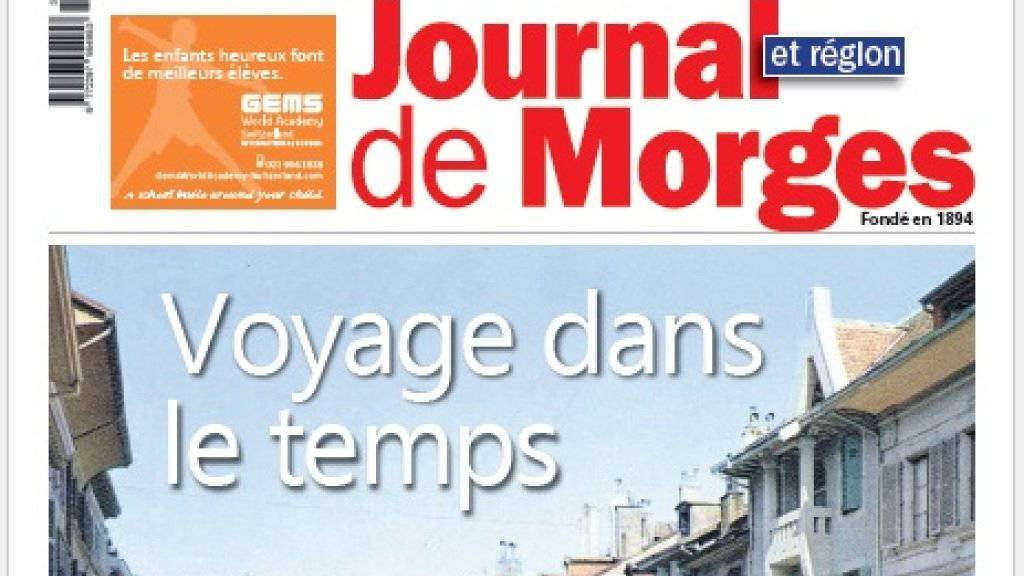 """Die Waadtländer Wochenzeitung """"Journal de Morges"""" erscheint jeweils am Freitag. Das Lokalblatt erreicht eine Auflage von knapp 6000 Exemplaren."""