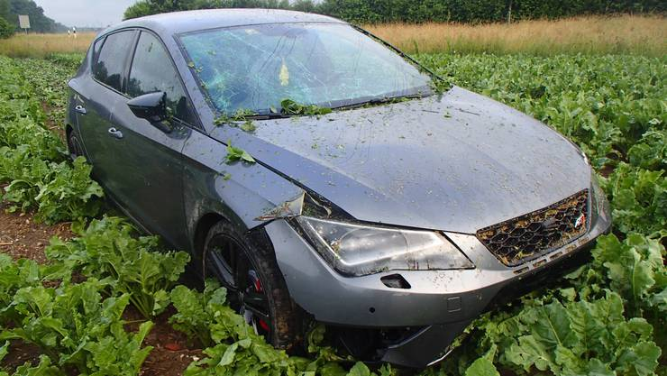 Dem Unfallfahrer wurde der Fahrausweis auf der Stelle abgenommen.