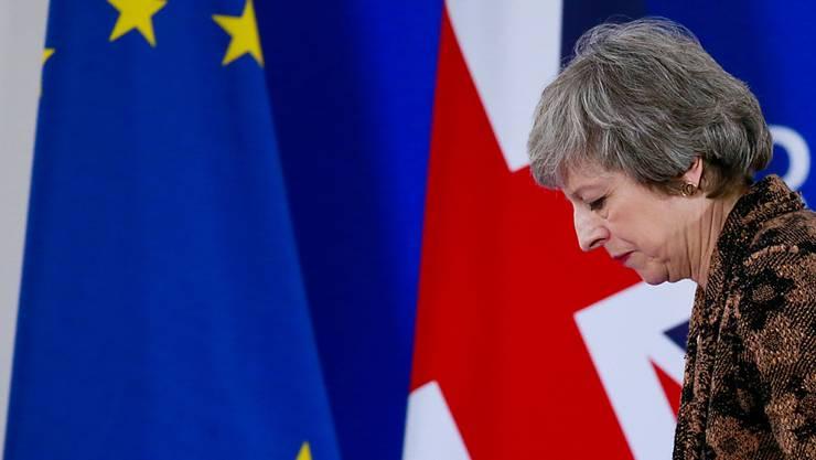 Wie weiter beim Brexit? Theresa May weiss bald, ob das Parlament ihren Vorschlag unterstützt. (Archiv)