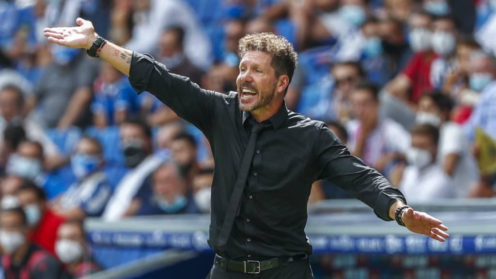 Atléticos Trainer Diego Simeone treibt seine Mannschaft zur erfolgreichen Wende