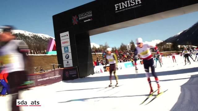 Dario Cologna gewinnt zum dritten Mal den Engadiner Skimarathon