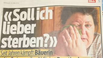 Die Schnottwiler Bäuerin Anita Suter weint im «Blick»