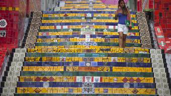 Jorge Selaróns berühmte und nach ihm benannten Treppe in Rio de Janeiro