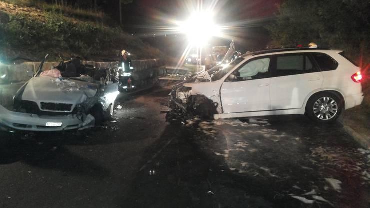 Lernfahrer-Crash: Ein Lernfahrer hat ausgangs Veltheim einen Randstein gestreift und ist danach auf die Gegenfahrbahn geraten.