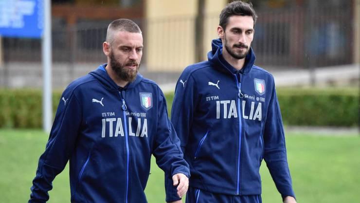 Daniele de Rossi (l.) und Davide Astori
