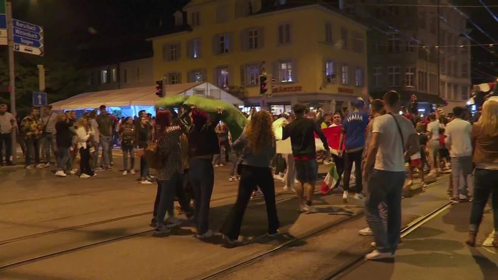 Italien ist Europameister: Stadt St. Gallen gerät in Ekstase