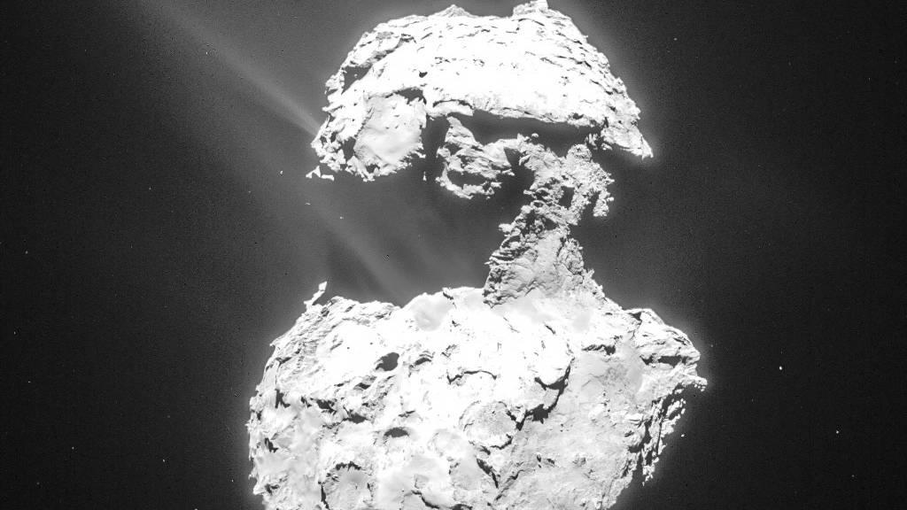 Komet Chury leuchtet ultraviolett