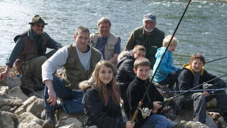 Zum ersten Mal wurde dieses Jahr auch Fischen im Rahmen des Frühlingsferienpasses angeboten.