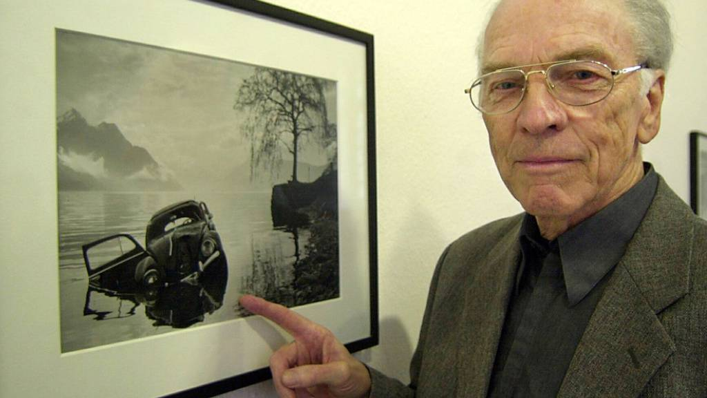 2002 wurde die Fotos des verstorbenen Polizeifotografen Arnold Odermatt in Leverkusen ausgestellt. Die in der Ausstellung «Karambolage» gezeigten Fotos halten den objektiv erkennbaren Sachschaden bei Unfällen, ohne Blut, Tote oder hektische Ermittler fest. (Archivbild)