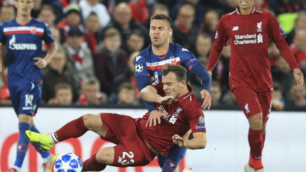 Xherdan Shaqiri ist im Rückspiel gegen Roter Stern Belgrad nicht dabei