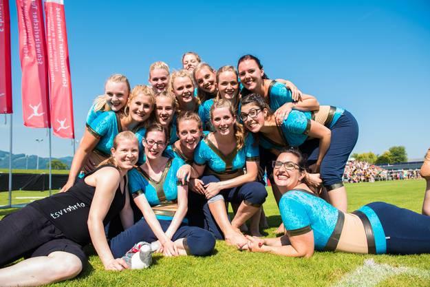 Die Bollywood-Ladies des TSV Rohrdorf nach ihrer Gymnastik Kleinfeld Vorführung. Für den Final hat es knapp nicht gereicht.