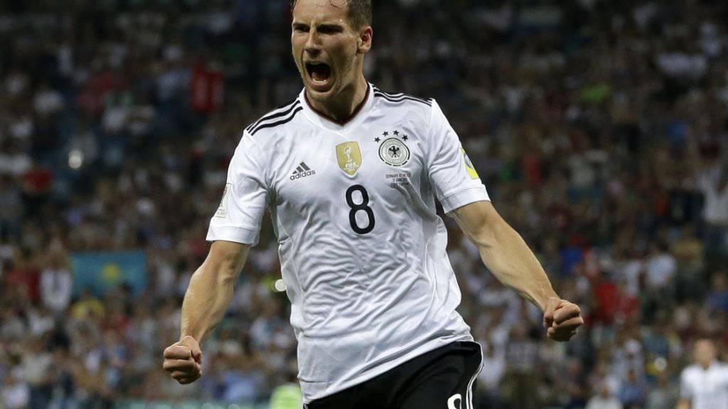 Vom Revierklub zum Rekordmeister: Der deutsche Nationalspieler Leon Goretzka, dessen Vertrag bei Schalke 04 im Sommer ausläuft, hat seine Zukunft Medienberichten zufolge geklärt