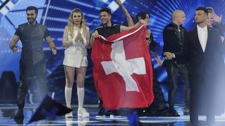 Erinnerung an letztes Jahr: Luca Hänni beim Eurovision Song Contest.