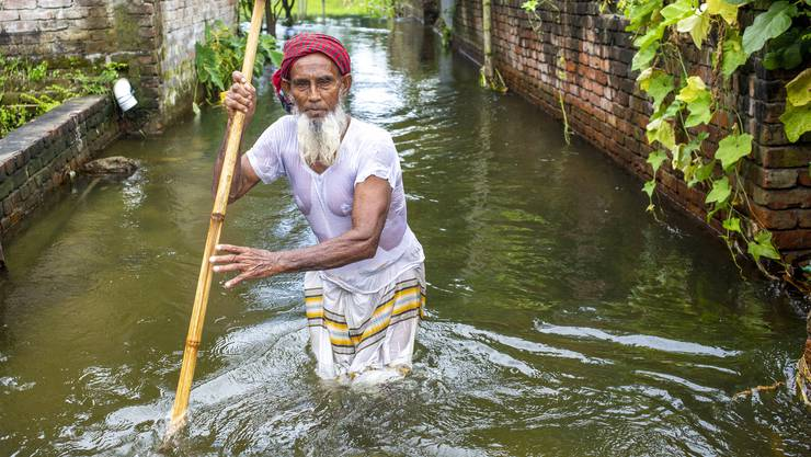 Geholfen werden soll unter anderem im oft von Überschwemmungen betroffenen Bangladesch (Symbolbild).