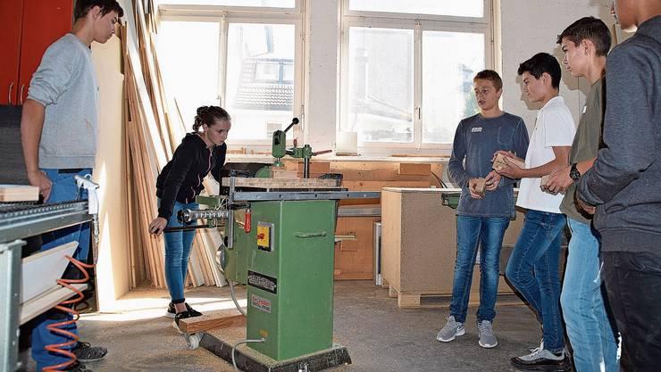 An den Berufsinfotagen von «Berufe Wohlen +» erhalten Schüler der 2. Oberstufe Einblick in verschiedene Berufe.