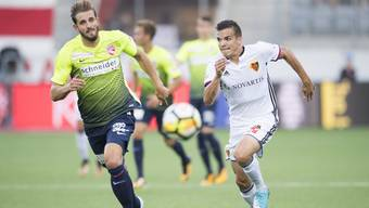 Der FCB und der FC Thun lieferten sich ein Duell, dass der Meister mit 3:0 gewinnen konnte.