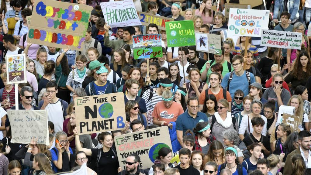 Klimastreik in Zürich am 27. September 2019. Das Wort des Jahres 2019 in der Deutschschweiz ist «Klimajugend». (Archivbild)