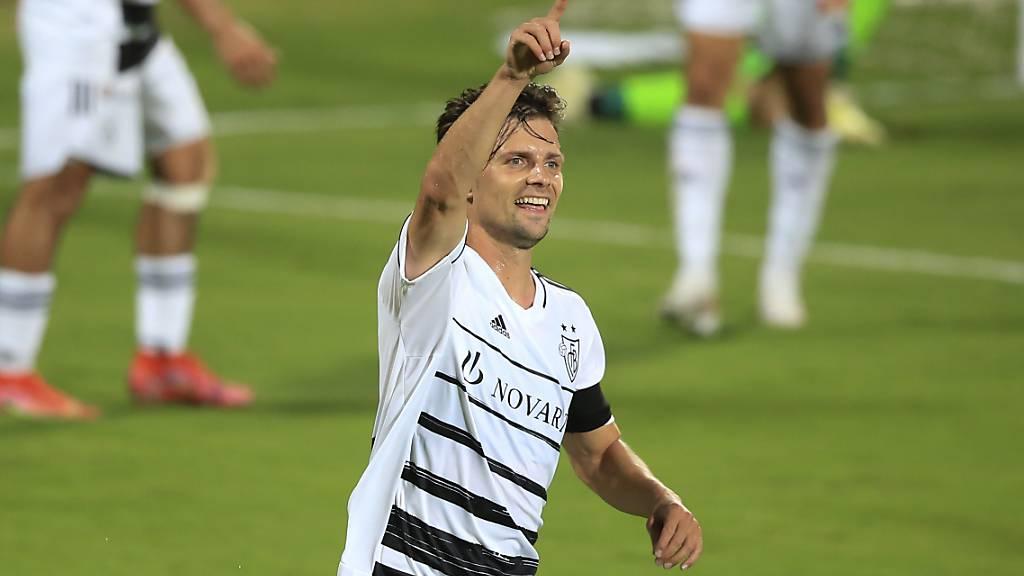 Valentin Stocker freut sich nach seinem 1:0