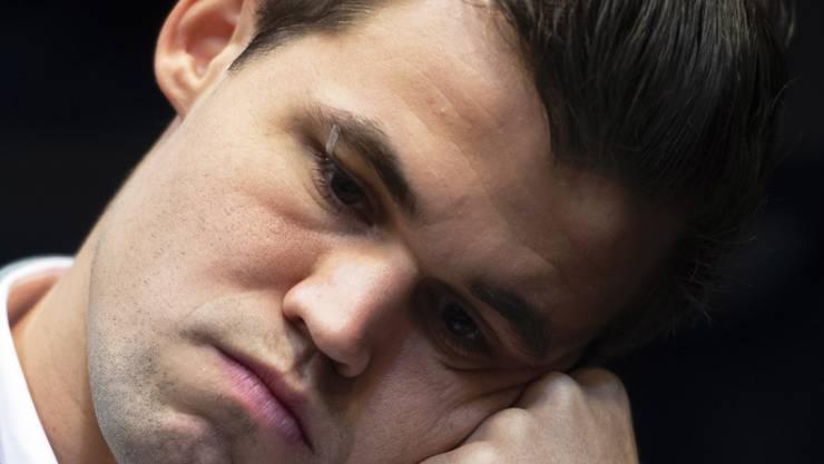 Magnus Carlsen hatte keine Lust, seinem Herausforderer auf den Zahn zu fühlen.