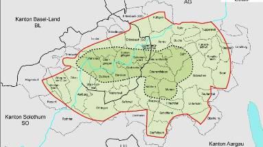 Jura-Südfuss Die mögliche Atomendlager-Region. (Bild: nagra)