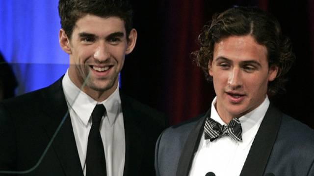 Michael Phelps (links) und Ryan Lochte bei der Awards-Verleihung
