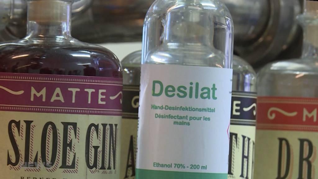 Matte Brennerei stellt jetzt selbst Desinfektionsmittel her
