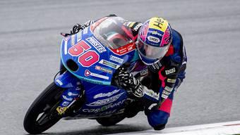 In seinem Moto3-Lehrjahr zum dritten Mal in den Top 20: der 18-jährige Freiburger Jason Dupasquier auf seiner KTM
