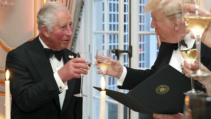 US-Präsident Donald Trump hat bei seinem Besuch in Grossbritannien Prinz Charles für dessen Umweltengagement gelobt und sich mit ihm über Klimafragen ausgetauscht. Trump, der die USA vom Pariser Klimaschutzabkommen abgekoppelt hat, war nach dem Treffen ganz angetan vom Thronfolger.