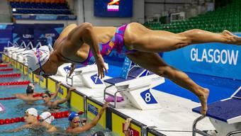 Maria Ugolkova zeigte am ersten EM-Tag in Glasgow als Startschwimmerin der 4x100-m-Crawlstaffel eine starke Leistung