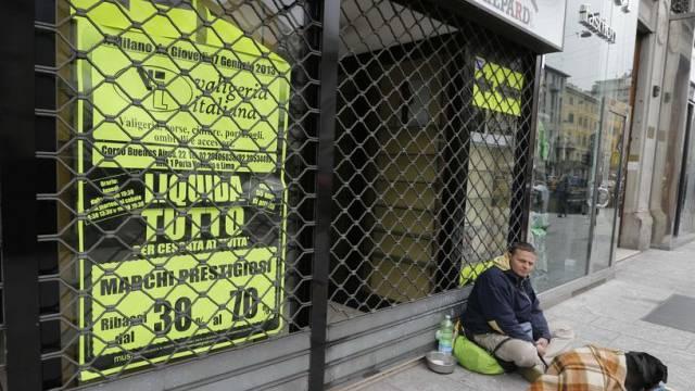 Obdachloser diesen Frühling in Mailand (Archiv)