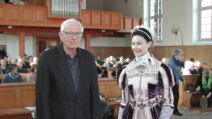 Die vortragenden Martin Schoch und Marie Christine Egger.