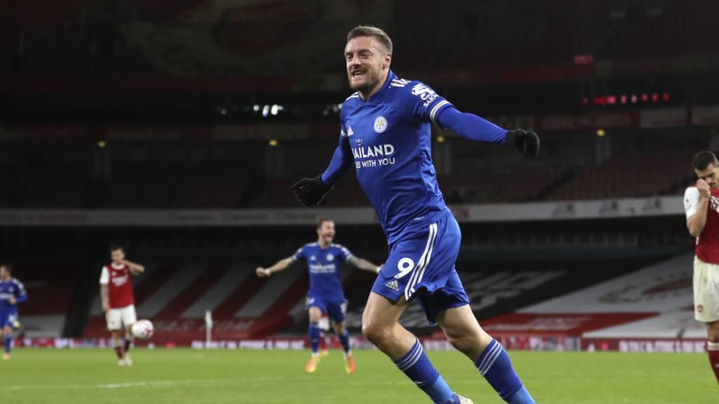 Jamie Vardy ist zurück und trifft für Leicester City zum Sieg.