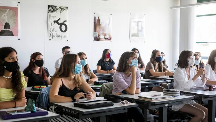 Ab dem 17. August gilt in Solothurner Berufs- und Kantonsschulen eine Maskenpflicht.