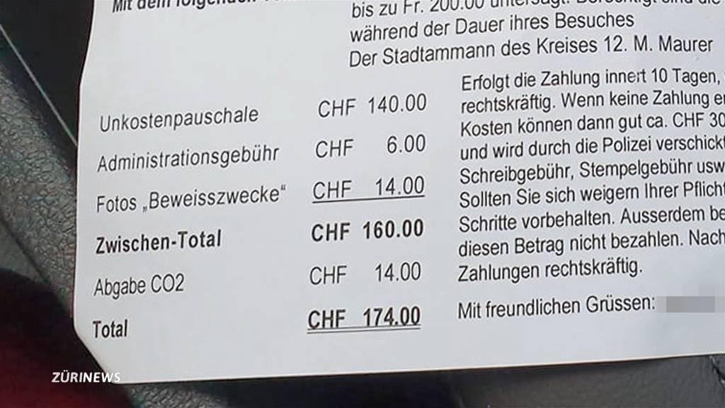 Wirt verlangt 174 Franken Busse