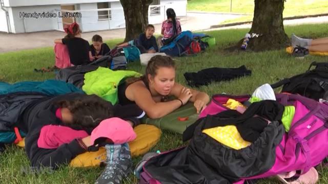 Wie fühlt sich Bolliger Schulklasse am zweiten Wandertag?