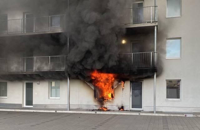 Die Wohnung ist nach dem Brand unbewohnbar.