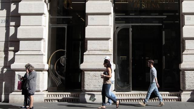 Eine Filiale der Bank Monte dei Paschi (Archiv)