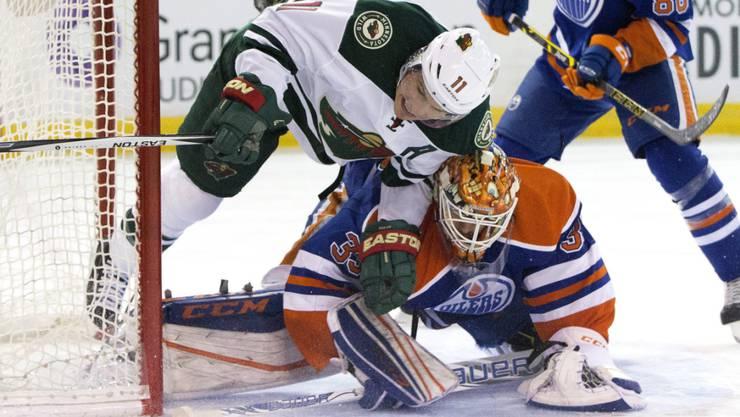 Zach Parise (oben) und die Minnesota Wild setzten sich auch gegen die Edmonton Oilers durch