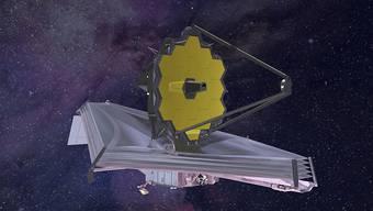 """So soll dereinst das """"James-Webb""""-Teleskop durchs All reisen. (Archiv)"""