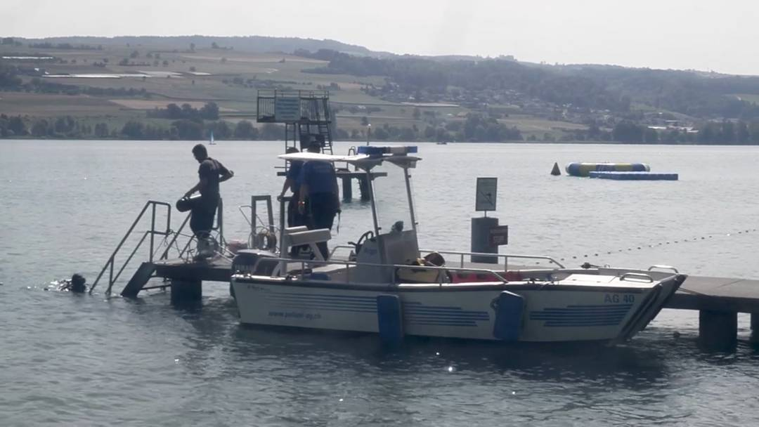 Vermisster Schwimmer im Hallwilersee: Polizei- und Militär-Einsatzkräfte suchen weiter