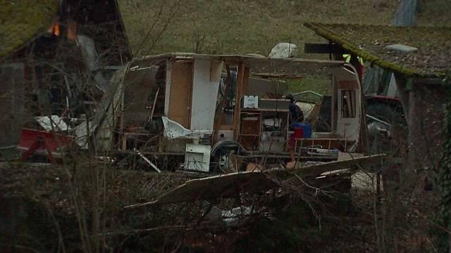 Verletzter nach Wohnwagen-Explosion in Gebenstorf