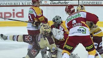 Langnau-Goalie Jaroslav Huebl verpasste den Shutout