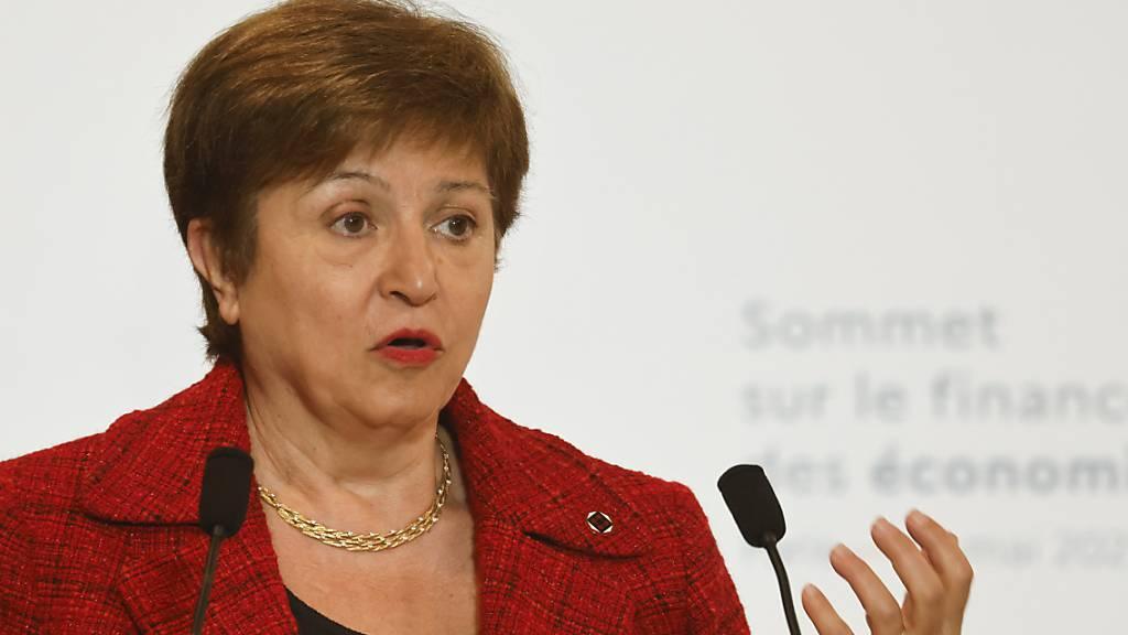 Die Leiterin des Internationalen Währungsfonds, Kristalina Georgiewa, sieht ärmere Länder bei der Erholung von der Coronakrise im Nachteil. (Archivbild)
