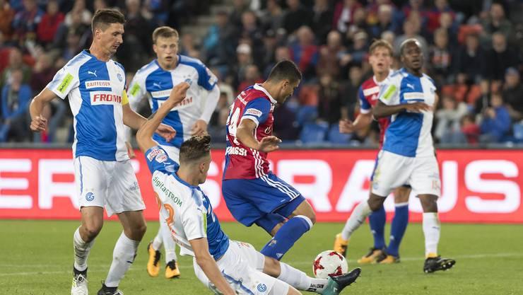 Der FC Basel gewinnt gegen GC mit 3:2.