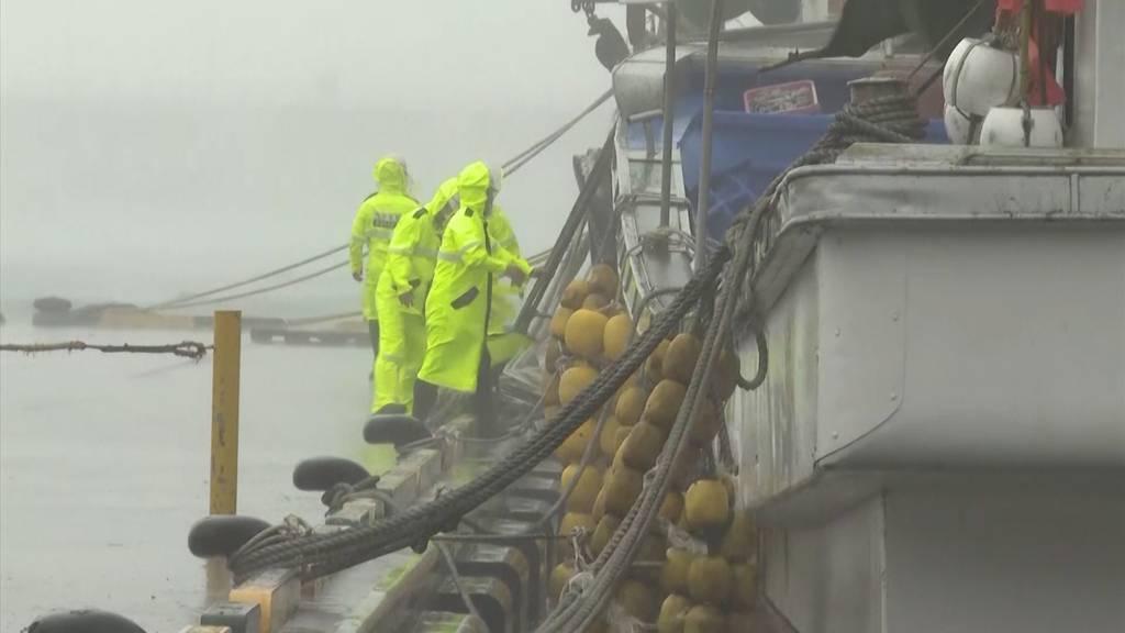 Überflutungen und Stromausfälle: Taifun zieht nach Südkorea