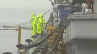 """Die starken Regenfälle und Sturmböen des Taifuns """"Haishen"""" verursachten in Japan Überschwemmungen und Schäden. Der Sturm hat Südkorea erreicht und auch dort steht vieles unter Wasser."""